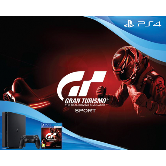 Sony PlayStation PS4 500GB Slim Bundle Gran Turismo Sport 5